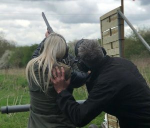 Woman Clay Shooting